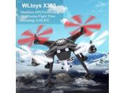 Vipwind EU Professional RC Drones Quadcopter XK X380 Black GPS  With Camera shock absorption
