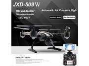 Vipwind JXD 509W RC Quadcopter Drone 5.8G WIFI with 2.0MP HD Camera Automatic Air Pressure High Headless Mode One Key Return (Size: 509W)