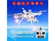 Vipwind BAYANGTOYS X16 Brushless WIFI FPV With 2MP Camera 2.4G 4CH 6Axis RC Quadcopter RTF (Size: Left Hand, Color: White)