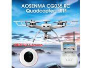 Vipwind AOSENMA CG035 Brushless Double GPS 5.8G FPV With 1080P HD Gimbal Camera Follow Me Mode RC Quadcopter (Size: Left Hand, Color: White)