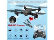 Vipwind VISUO XS809HW WIFI FPV With Wide Angle HD Camera High Hold Mode Foldable Argade RC Quadcopter DroneRTF(Color:Black)