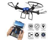 LiDi RC L5W 2.4GHz 6-Axis Gyro Wifi Real-time Transmission Drone with 2MP HD Camera 3D Flips High Hold Mode Headless Mode One Key Return RC Quadcopter