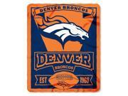 NFL Marquee Logo Lightweight Fleece Blanket (Denver Broncos) 9SIACTM58D1020