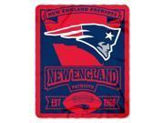 NFL Marquee Logo Lightweight Fleece Blanket (New England Patriots) 9SIACTM58D1039