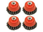 Wire Cup Brush Wheel 3 for 4-1/2 115mm Angle Grinder Twist Knot 4 Pack TE243 9SIACTT5M33495