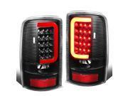 For 00-06 Yukon Denali / Suburban / Tahoe GMT800 Pair of 3D LED Tail Brake Lights (Black Housing Clear Lens) 02 03 04 05