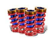 For 88-00 Civic / CRX / Del Sol / Integra Aluminum Scaled Coilover Kit (Red Springs Blue Sleeves)