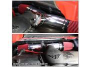 Dodge SUV/Truck Short Ram Cold Air Intake Pipe Kit Set (Silver Pipe+Red Filter) 9SIACUS5SY0238