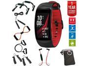 Samsung Gear Fit2 Pro Fitness Smartwatch Red Small +7-in-Fitness Kit+Extended Warranty