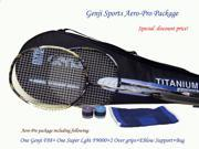 Genji Sports Aero PRO Package [F88 and F 9000 rackets 2 over grips Elbow supports bag]