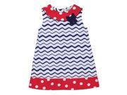 Beebay A line Polka Dot Bow Dress Red