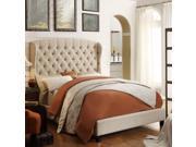 Felisa Full Upholstered Platform Bed Beige