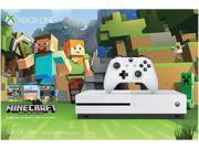 Microsoft Xbox One S 500GB Minecraft Favorites Console Bundle Robot White ZQ9-00043