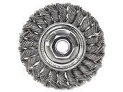 """Dualife St-8 Twist Knot Wire Wheel, 8""""""""dia, .023 Wire"""" 9SIAAU94VJ5720"""