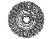 """Dualife Sta-4 Twist Knot Wire Wheel, 4"""""""" Dia, Stainless Steel, .014 Wire"""" 9SIA0ZX6XN8521"""