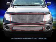 Fedar Billet Grille Combo For 2005-2008 Nissan Pathfinder/ Frontier - Polished 9SIAD0D5C67778