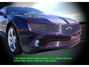 Fedar Billet Grille Combo For 2010-2013 Chevy Camaro LT/LS V6 - Polished 9SIAD0D5C68040