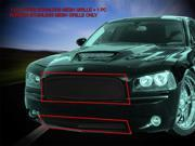 Fedar Billet Grille Combo For 2005-2010 Dodge Charger - Black