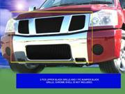 Fedar Billet Grille Combo For 2004-2007 Nissan Titan/Armada - Black