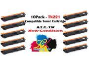 [10pk] Compatible Brother TN221 Black Toner Cartridge for Brother DCP-9020CDN