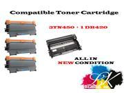 4PK Compatible Brother 3 TN450 + 1 DR420 Toner Cartridge for Brother DCP-7060D DCP-7065DN
