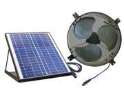 Nature Power Solar Powered Attic Gable Ventilator, 1350 CFM, Brushless Fan 9SIAD1P63C6125