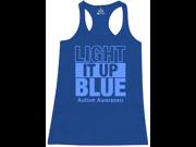 Shop4Ever Women's Light It Up Blue Autism Awareness Racerback Tank Top X-Large Royal Blue 9SIAD1V6Z74635
