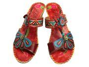 Corkys Women s Elite Jamaica Red Leather Sandals