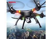Original SYMA X8C 2.4G 4CH 6-Axis Gyro Large RC Quadcopter RTF Drone 2.0MP HD Camera Black + 2 Battery