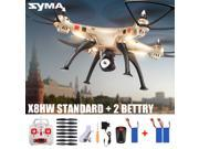 Original Syma X8HW FPV 2.4Ghz 6 Axis Gyro RC Quadcopter Drone with WIFI Camera+ 2 Battery US Plug