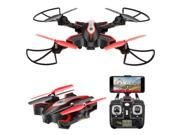 Mattheytoys Syma X56W RC Drone Foldable Quadcopter With HD 720P Wifi Camera and Live Video 4 Channel Headless Mode Altitude Hold One Key Take off Landing UAV Black