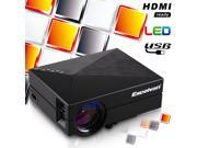 Excelvan GM60 1000 Lumens Multimedia Mini Portable LED Projector HD 1080P Home Theater PC USB HDMI AV VGA SD 9SIAD335BV6206