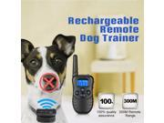 Waterproof Remote Pet Dog Training Collar 330 Yard Rechargeable Electric LCD Display 100 Levels Shock (Two Collars) 9SIAD335BZ0012