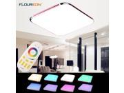 30W RGB LED Ceiling Light-2.4G Wireless Remote Control Infinite Dimming, 25inch LED Flush Mount Ceiling Light, 1600LM, 100~240V, RGB Color Change, Warm White Pu 9SIAD335VN4963