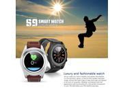 DT NO.1 S9 Bluetooth 4.0  Smartwatch Heart Rate Monitor DIY Watchface Call Message Reminder Pedometer Sedentary Reminder Sleep Monitor Push notifications Music&