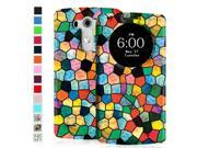 Fintie LG G3 Smart Circle Case - Premium PU Leather Ultra Slim [Magnetic closure] Flip Cover for LG G3 (2014), Mosaic 9SIAD455HN6935