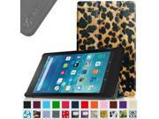 Fintie Amazon Fire HD 8 2015 Case - Lightweight Slim Shell Standing Cover with Auto Wake / Sleep, Leopard Brown