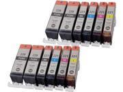 12 Pack Canon PGI 220 CLI 221 Inkjet Cartridges Compatible