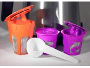 New Premium Keurig 2.0 K-Carafe Reusable Filter and Single K-Cup Reusable Filters with Coffee Scoop Kit for K200, K300, K400, K500 Series Keurig Brewer - Replac 9SIAD665CV8832