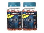 Kirkland Ibuprofen Pain Reliever 500ct 2-Pack Fever Reducer USP 200mg Tablets