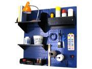 Wall Control Pegboard Hobby Craft Pegboard Organizer Storage Kit with Blue Pegboard and Black Accessories 9SIA00Z30T8615