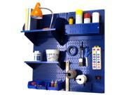 Wall Control Pegboard Hobby Craft Pegboard Organizer Storage Kit with Blue Pegboard and Blue Accessories 9SIAD7N5D25872