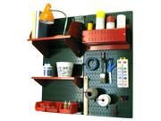 Wall Control Pegboard Hobby Craft Pegboard Organizer Storage Kit with Green Pegboard and Red Accessories 9SIA00Z30T8691