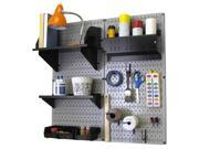 Wall Control Pegboard Hobby Craft Pegboard Organizer Storage Kit with Gray Pegboard and Black Accessories 9SIA00Z30T8614
