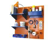 Wall Control Pegboard Hobby Craft Pegboard Organizer Storage Kit with Orange Pegboard and Blue Accessories 9SIA00Z30T8643