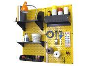 Wall Control Pegboard Hobby Craft Pegboard Organizer Storage Kit with Yellow Pegboard and Black Accessories 9SIAD7N5D25852