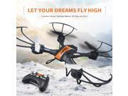 JJRC H33 RC Quadcopter Headless Mode 2.4G 4CH 6 Axis Gyro Headless Mode 360° Flip Remote Control RC Drone Quadcopter with Led Lights (Orange)