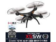 Syma X5SW-E2 Explorers2 2.4GHz 4CH WiFi FPV RC Quadcopter Drone with Camera 0.3MP HD 6 Axis 3D Flip Flight Toys for Children Black