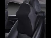 Wanmingtek Memory Foam Car Headrest Pillow Supplies Auto Safety Car Massage Cushion Back Brace Pillow Supports Car Accessories Black