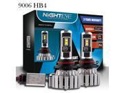 Wanmingtek 9006/HB4 LED Headlight Bulbs - 6000K Cool White 80W 9000LM - 3 Year Warranty